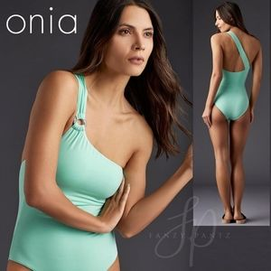 NEW Onia Jenna One Shoulder One Piece Swimsuit L